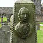 This memorial stone is located in the grounds of St Andrews Cathedral and remembers Robertson as one of the oldest golf professionals to have lived in Scotland