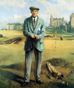 Willie's portrait that hangs in the R&A