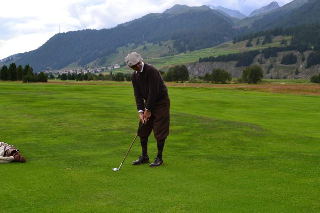 Somers at the Swiss Hickory Championship in St. Moritz